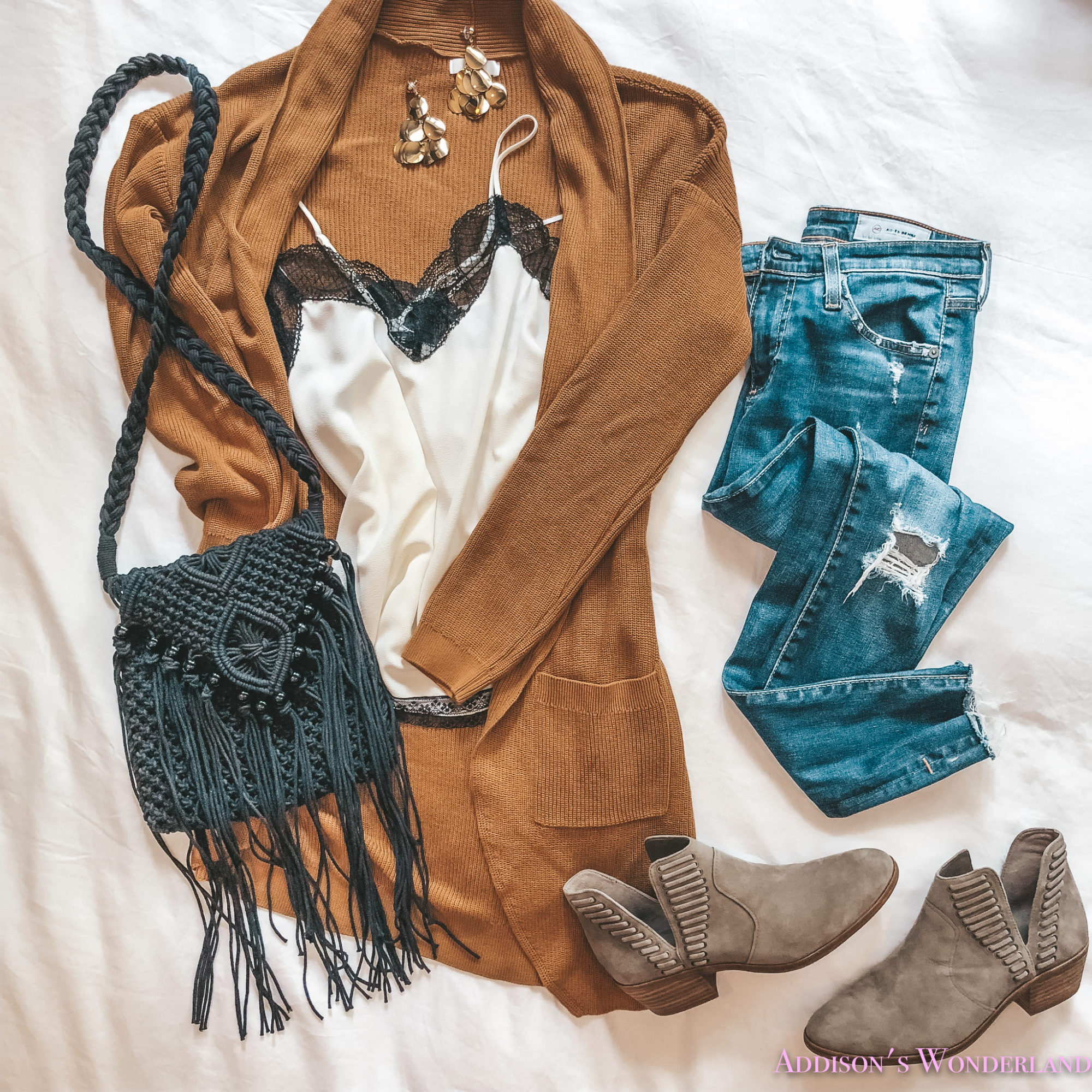 Three Must-Have Camisole+Cardigan Combos for Fall!