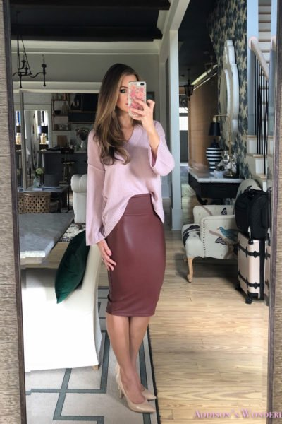 Styling A Leather Skirt Four Different Ways for Fall & Winter