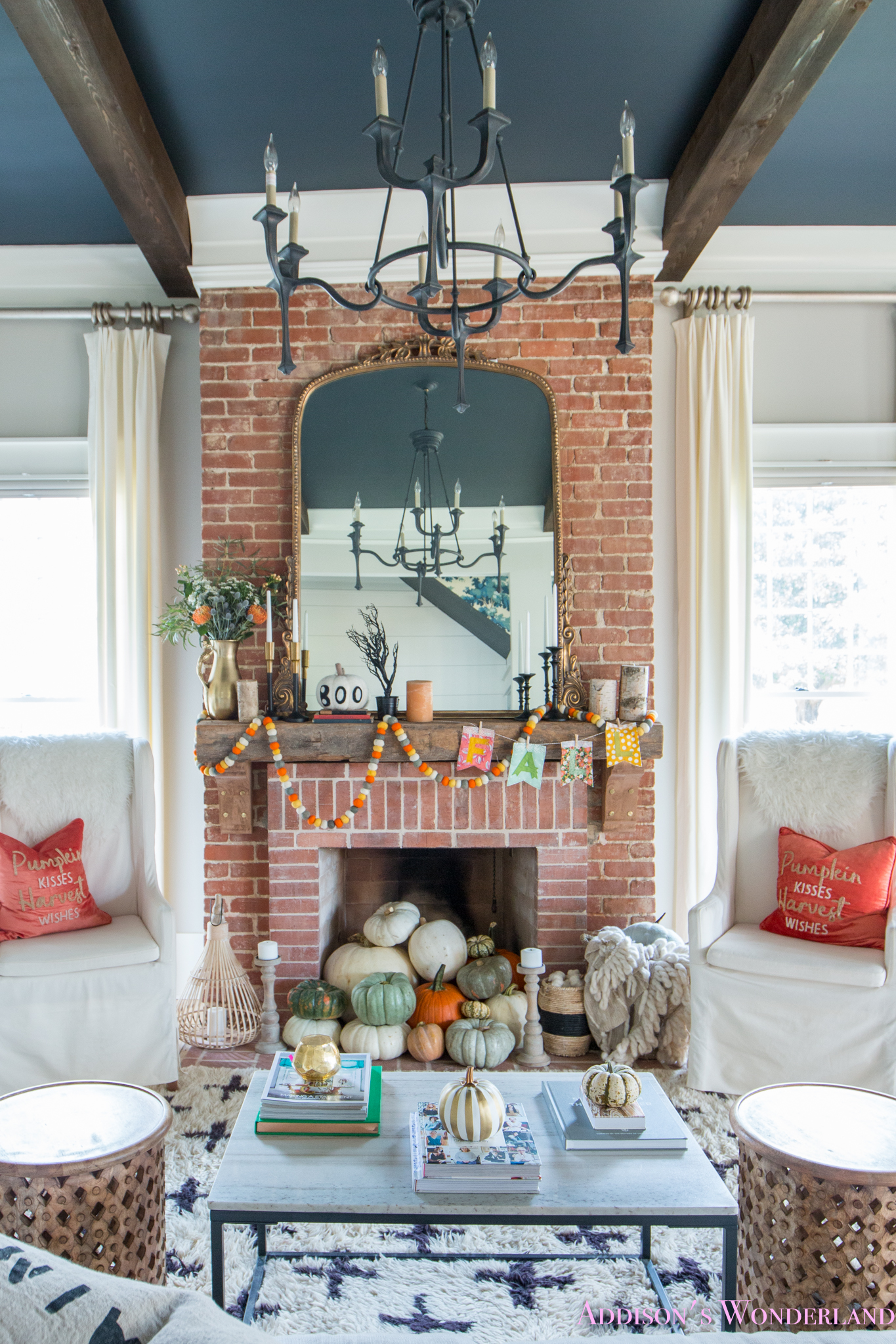 Our Fall & Halloween Living Room Decor w/ Mantle Ideas!