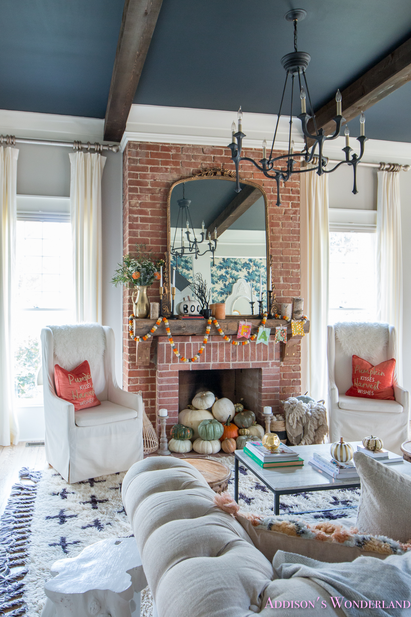 Living Room Decor Reclaimed Wood: Our Fall & Halloween Living Room Decor W/ Mantle Ideas