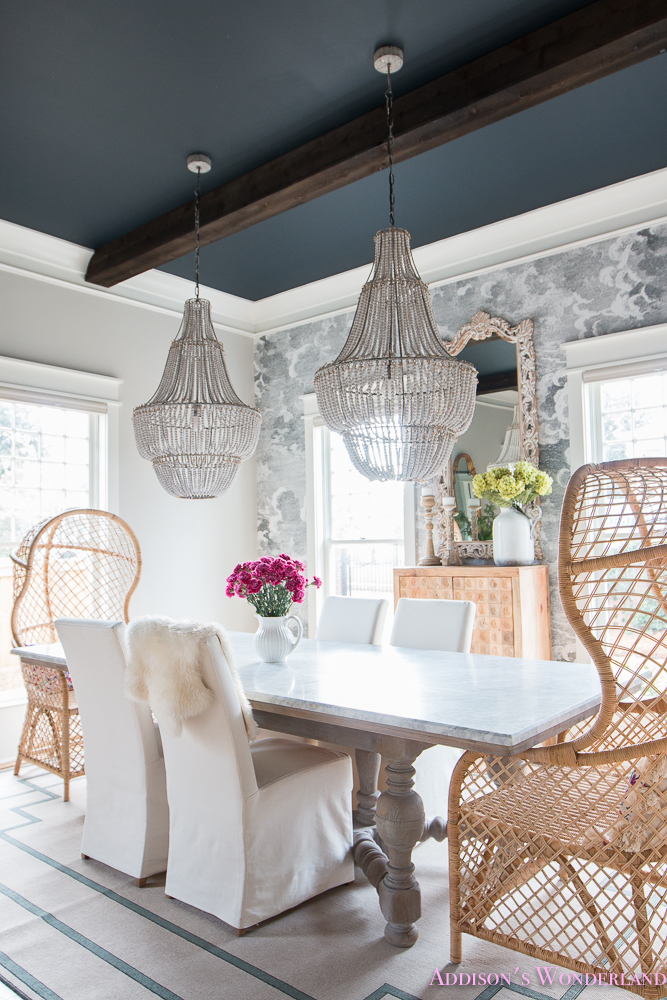 fun dining rooms | Our Elegant and Fun Vintage Boho Dining Room Reveal!