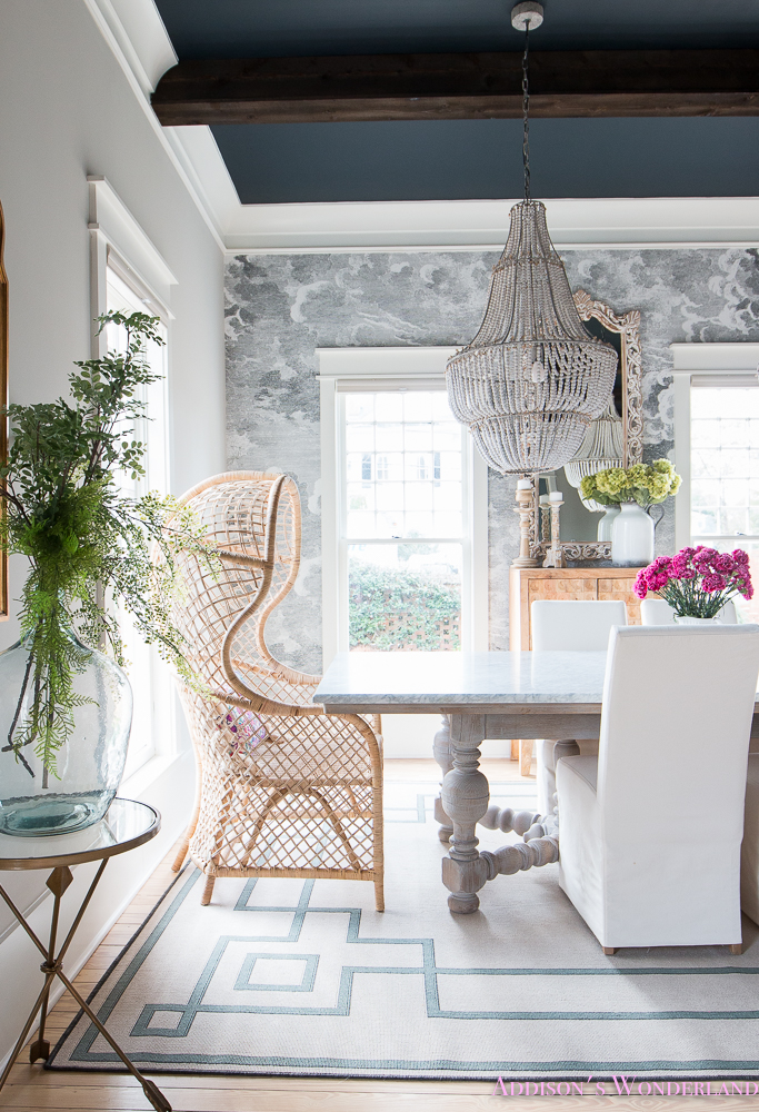 Our Elegant & Fun Vintage Boho Dining Room Reveal!