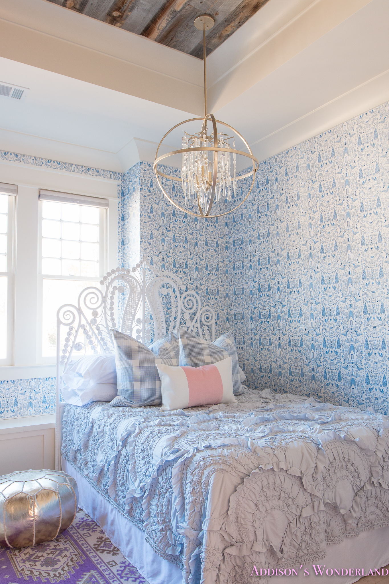 Our New Caitlin Wilson Pillows + Update on Winter\'s Blue & White Bedroom