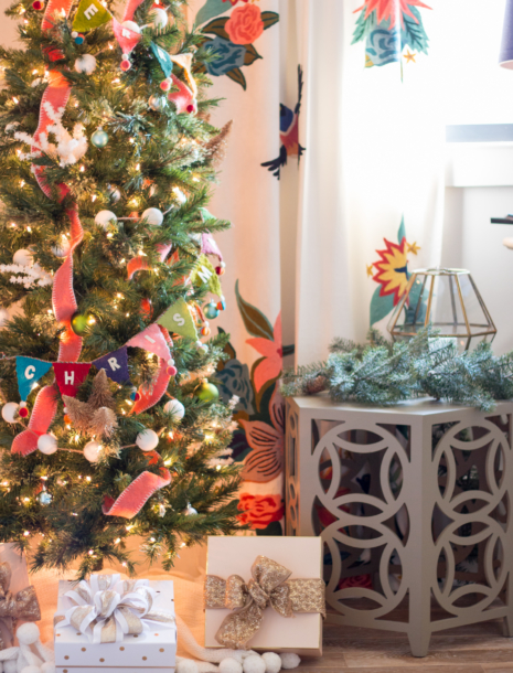Our Colorful Christmas Holiday Ready Family Room Reveal!