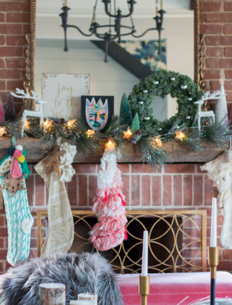 Our Whimsical & Colorful Christmas Holiday Living Room!