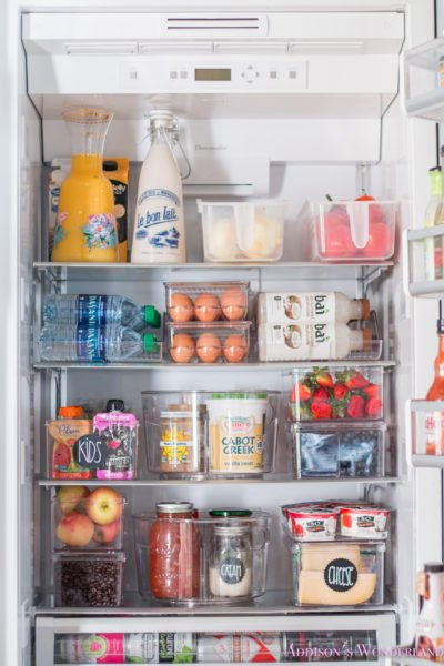 A Peek Inside Our Newly Organized Refrigerator for Under $145!