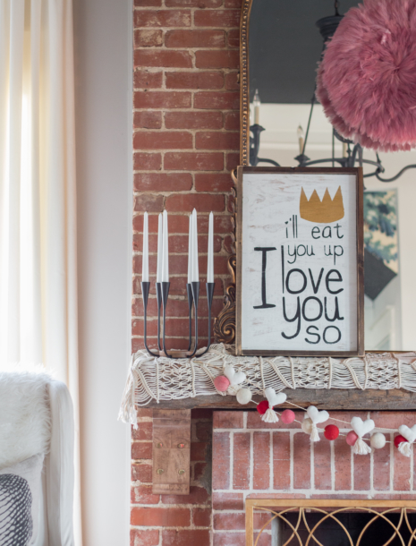 A Little Pop of Valentine's Day in Our Living Room...