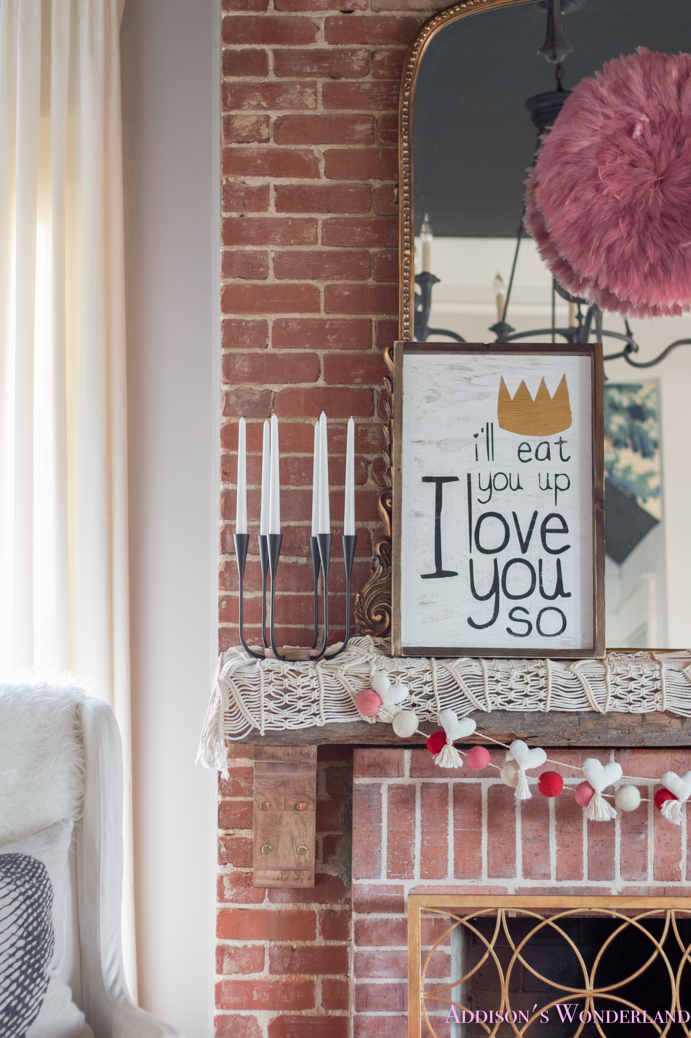 A Little Pop of Valentine's Day in Our Living Room…