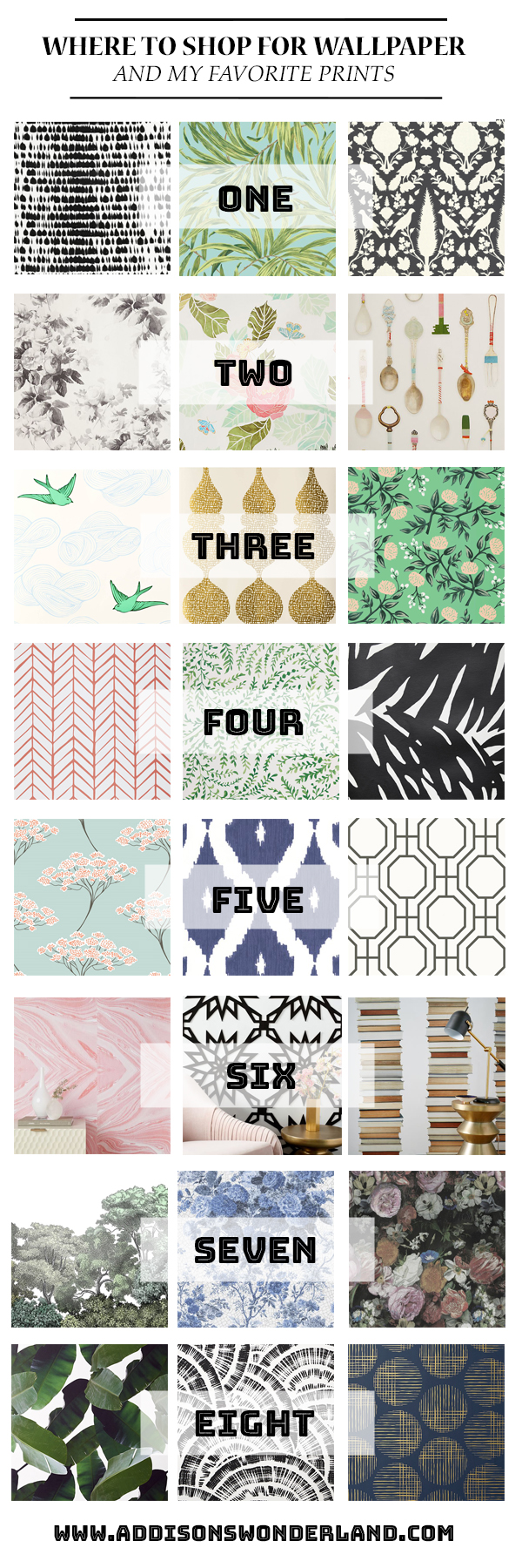 My Top 8 Places to Shop for Wallpaper & My Favorite Patterns…