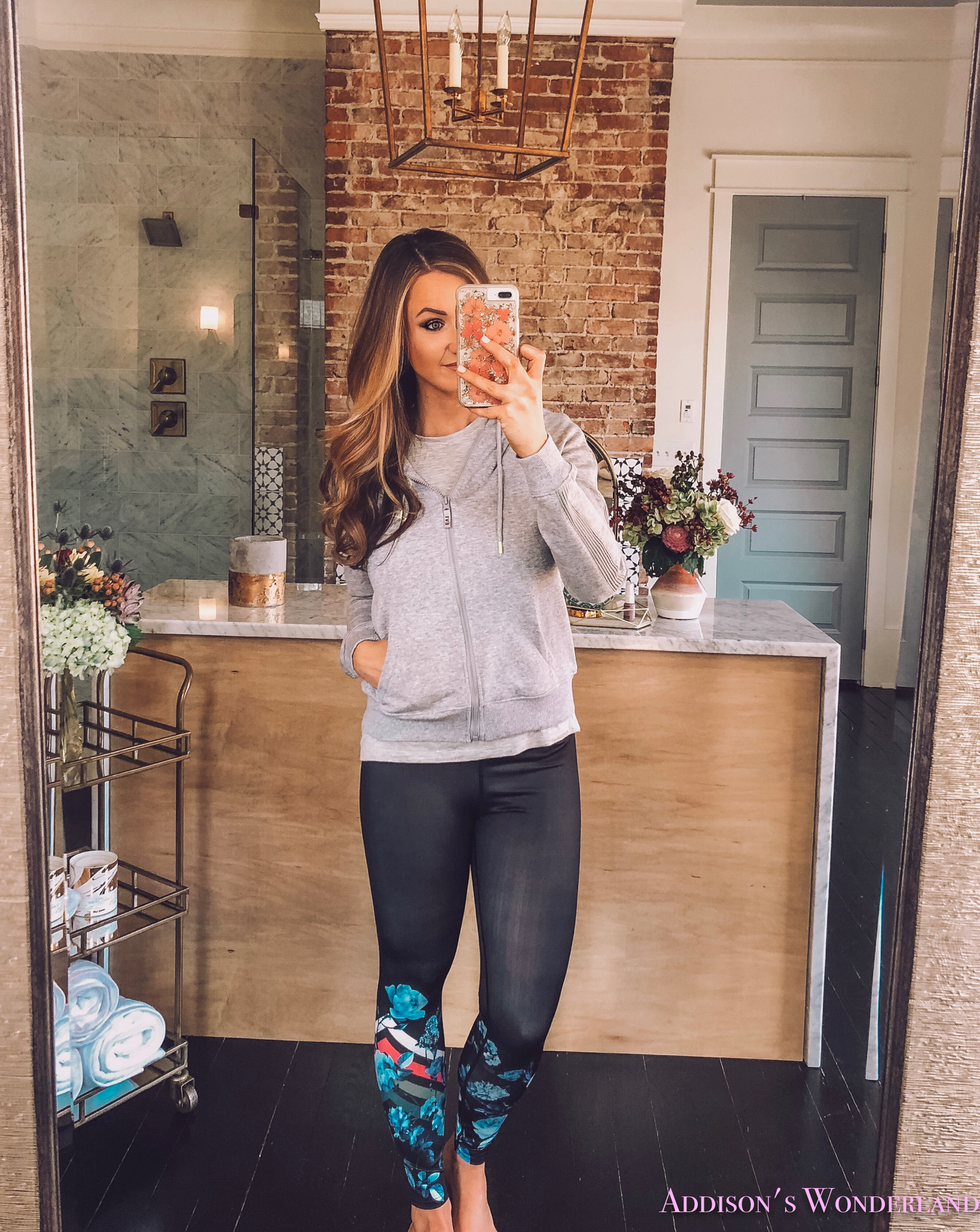 """2a536d4de80ae0 I have it paired with this cute """"love"""" hoodie. I love how everything in Ellen's  collection has such fun wording and art."""