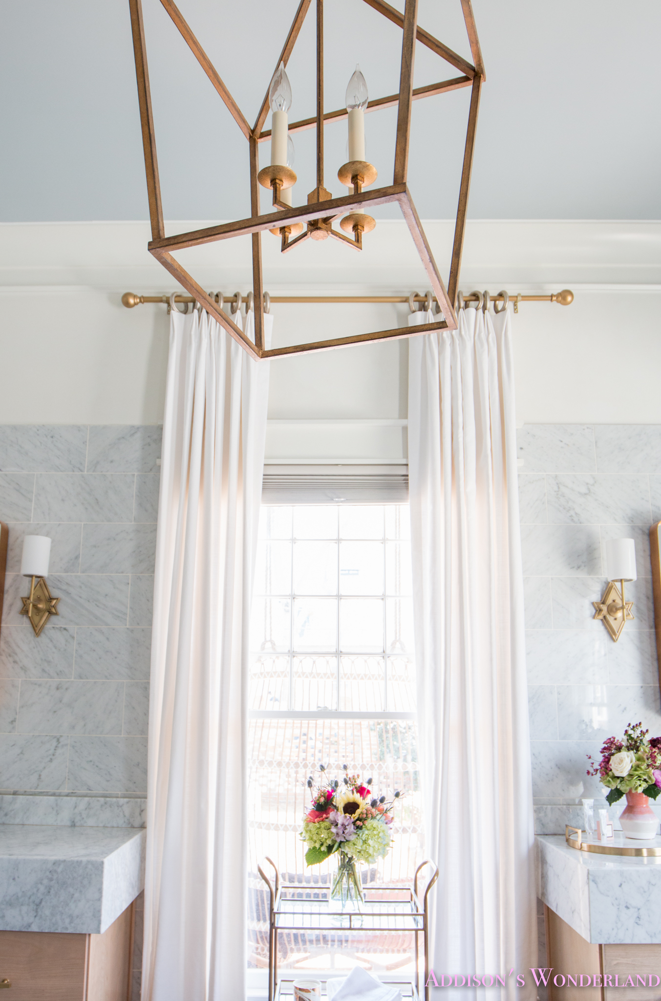 Our New Custom Master Bathroom Drapery From Willow Bloom Home