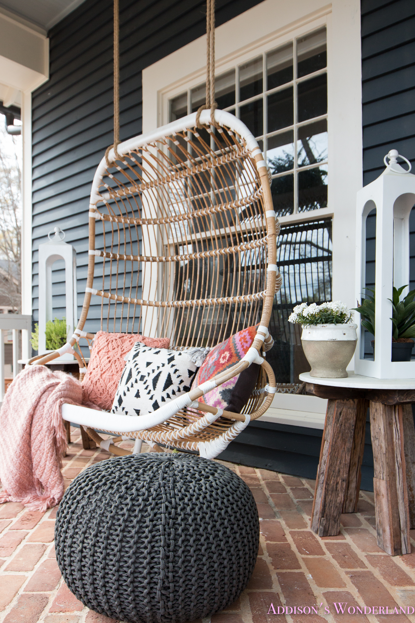 Our Fun & Colorful Bohemian Spring Porch Update Reveal…