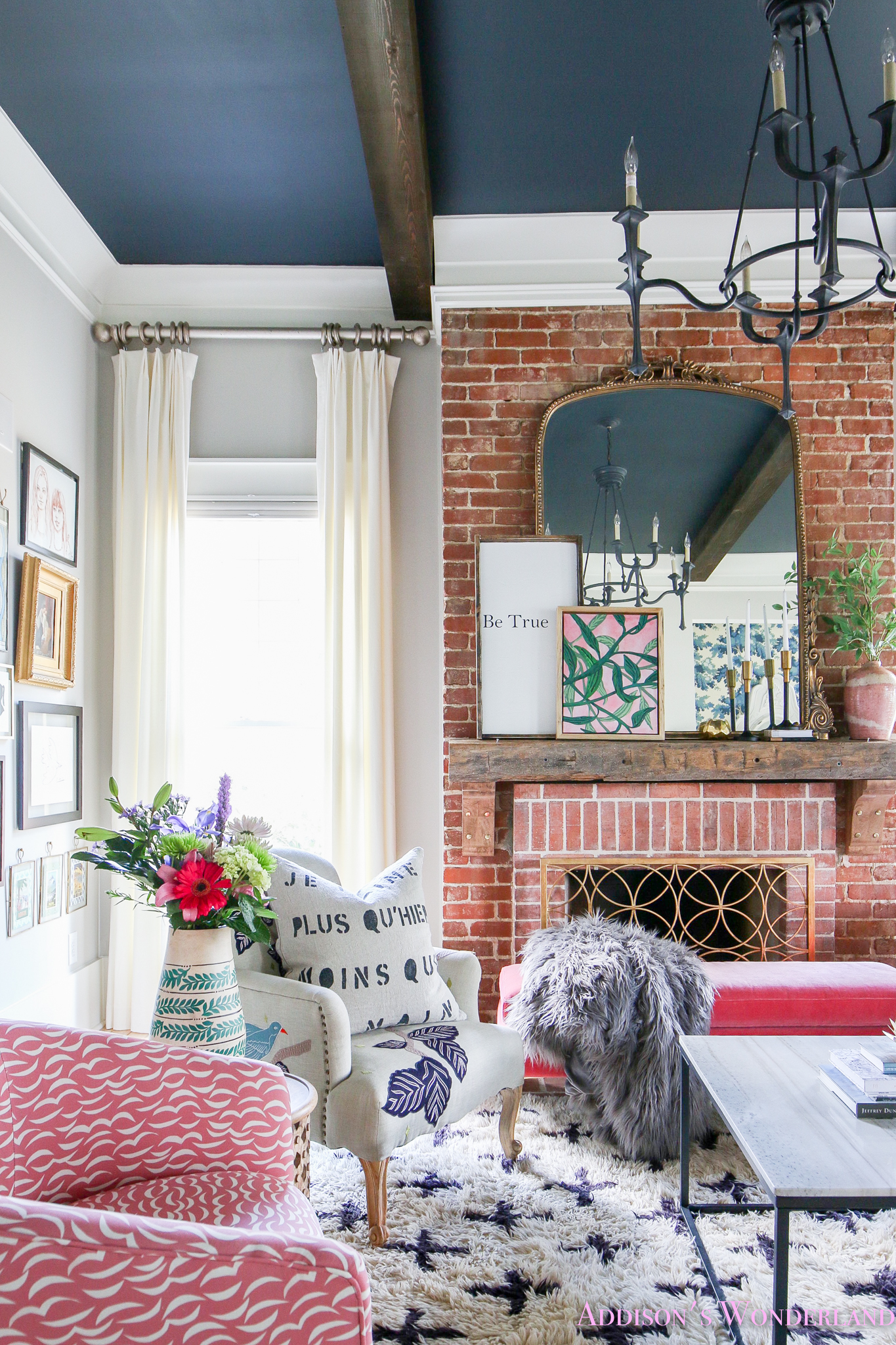 A Colorful Living Room Revamp with Walmart's Flower Home Line…