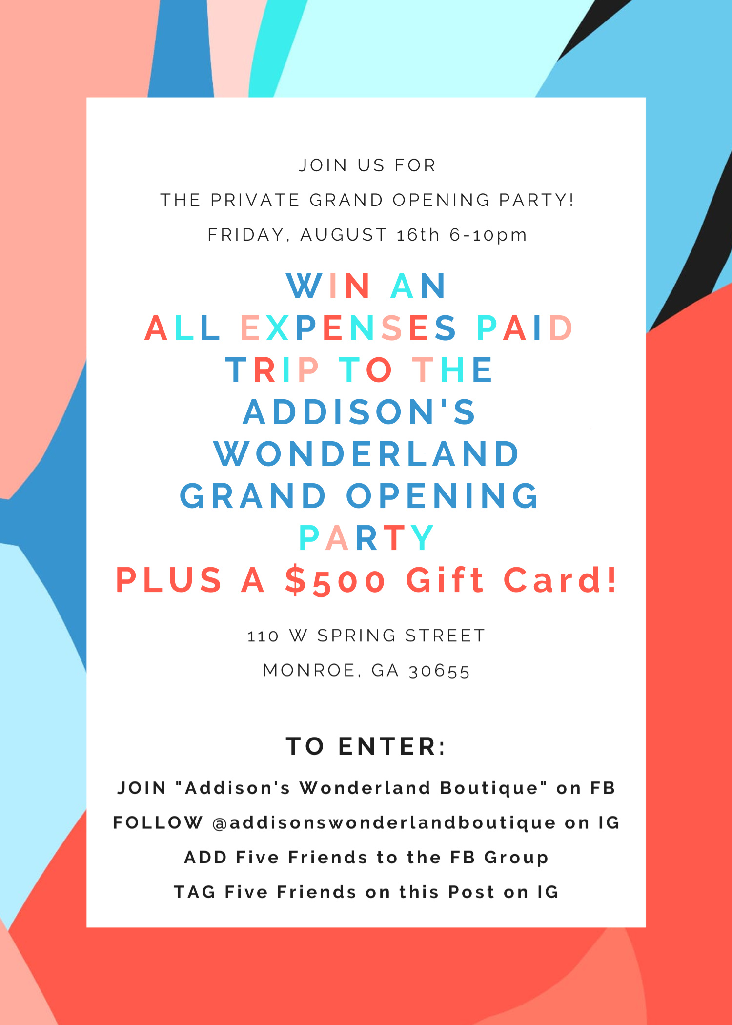 Win An All Expenses Paid Trip to the AW Grand Opening!