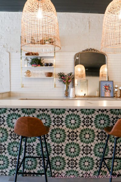 A Bold Pop of Color & Pattern With Cement Tile Shop inside Addison's Wonderland…