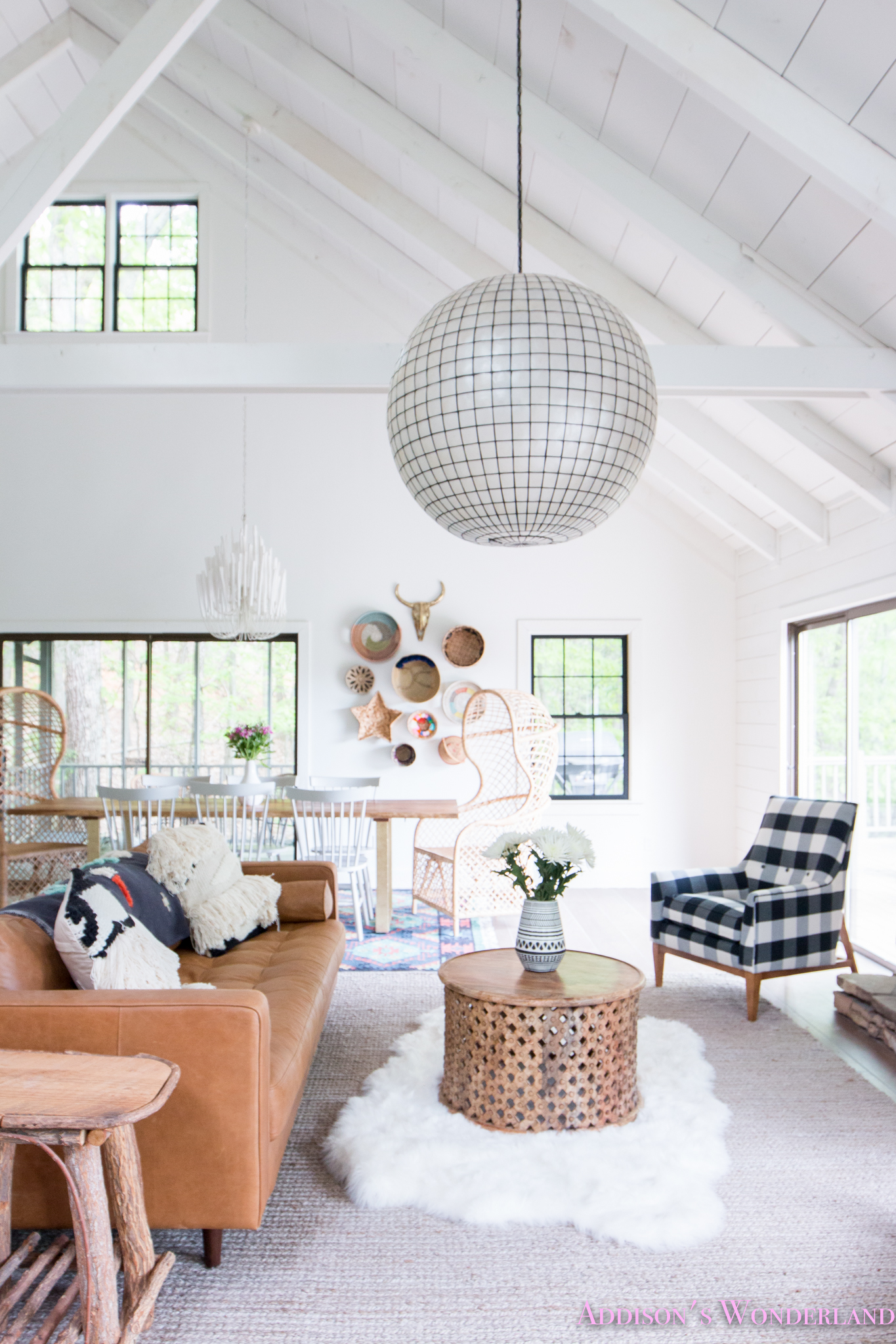 The Cutest Black White Plaid Chairs From Saltbox Lane In Our Cabin