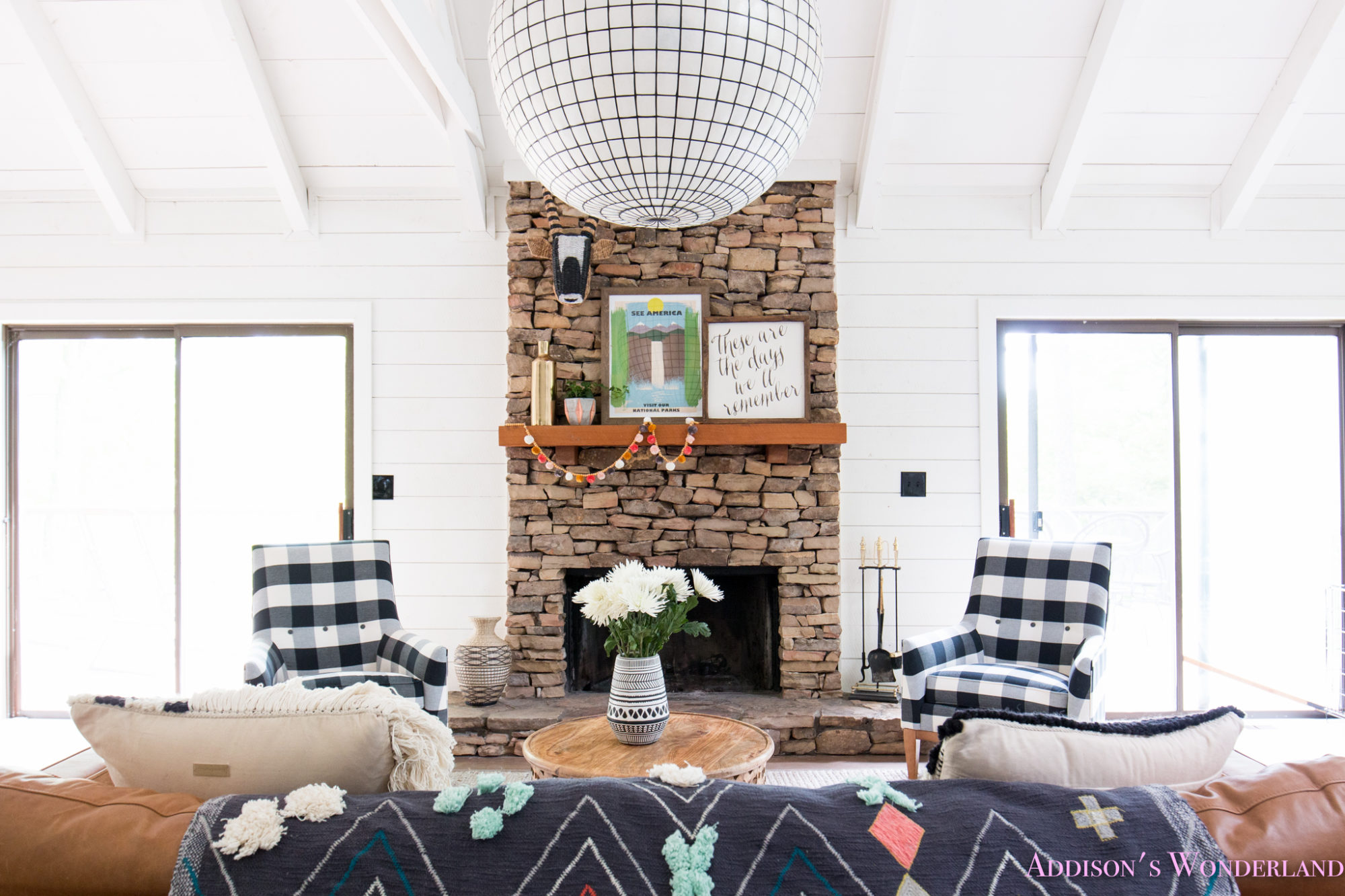 The Cutest Black & White Plaid Chairs from Saltbox Lane in our White ...