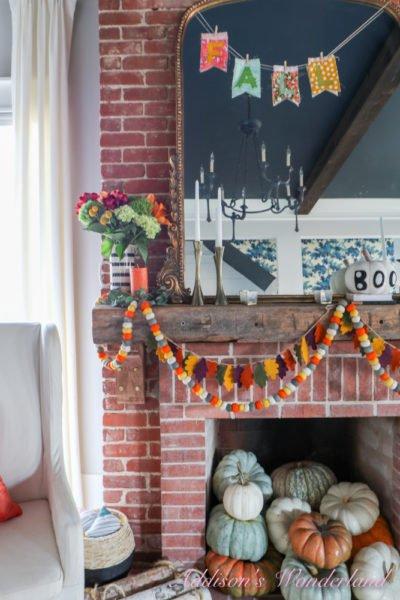 My Vintage Boho Fall Halloween Living Room Reveal…