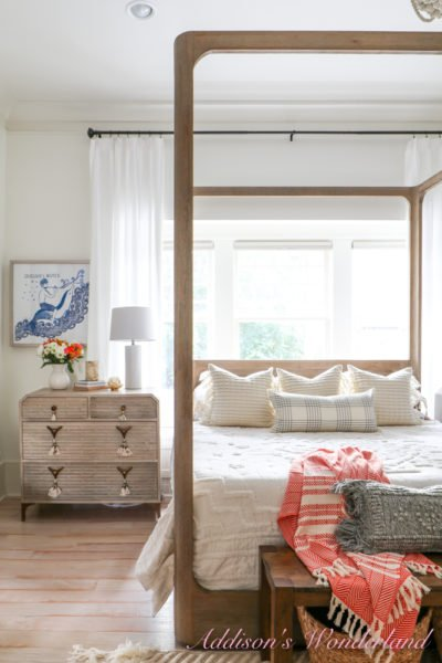 A Bright White & Boho Master Bedroom Update with Serena & Lily!