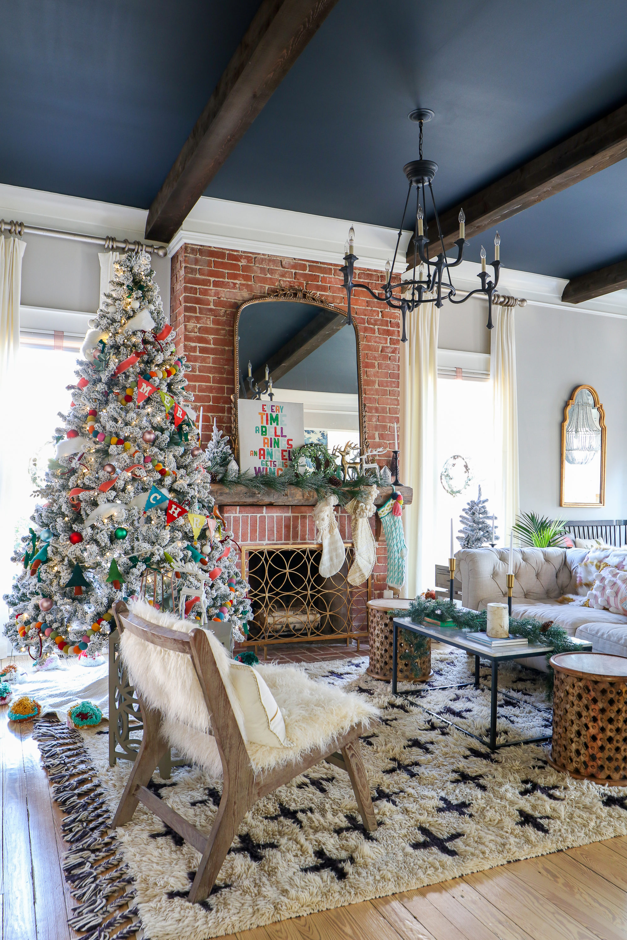 My Very Whimsical and Colorful Full House Holiday Christmas Home Tour