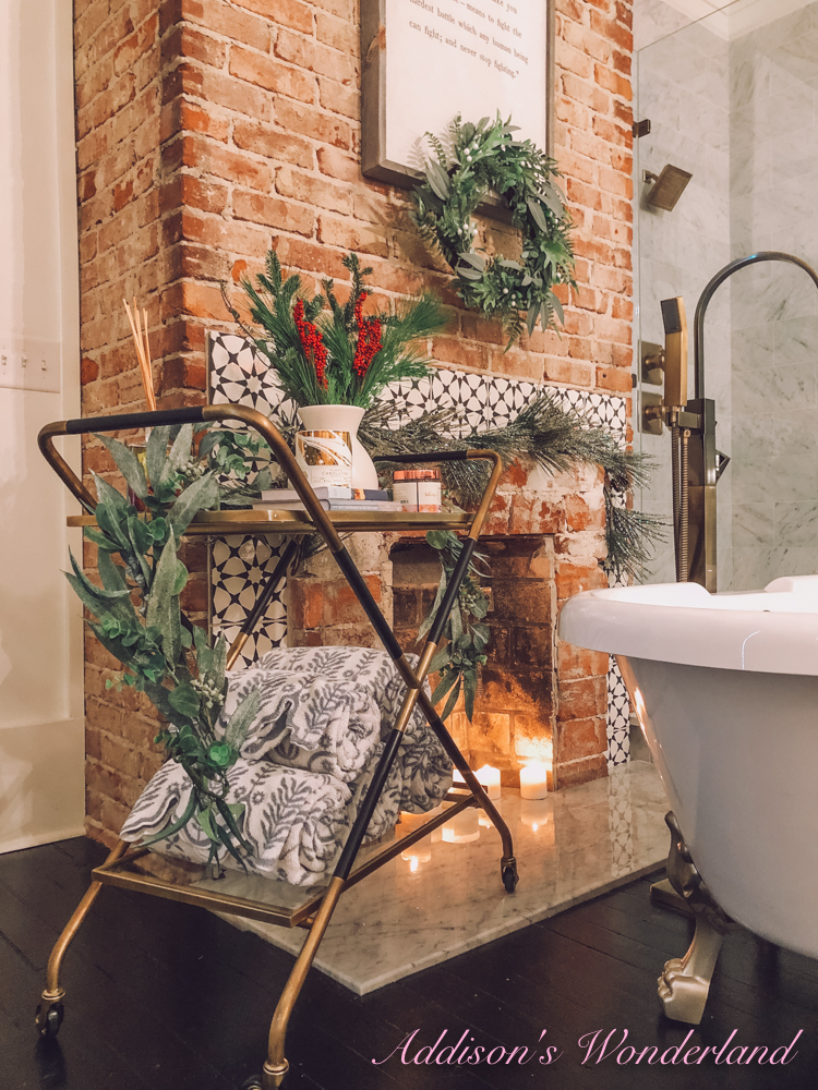 Two Ways to Style A Bar Cart… Bathroom Accessory & Hot Chocolate Bar!