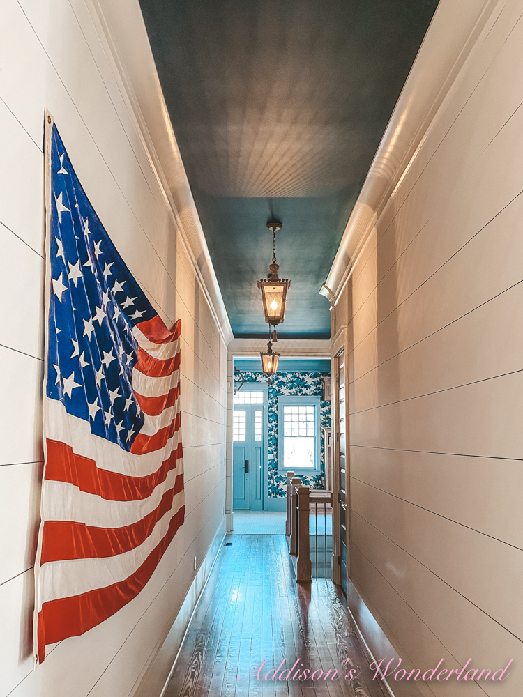 Finally Got My Vintage American Flag Hung in the Hallway…
