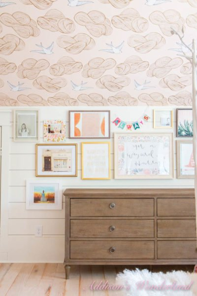 A Girl's Bedroom Colorful Gallery Wall with At Home Stores…