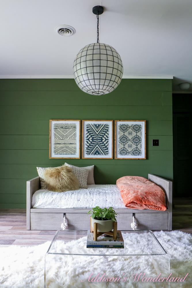Winnie's Woodsy Wonderland Basement Living Room Reveal & It's WayDay!