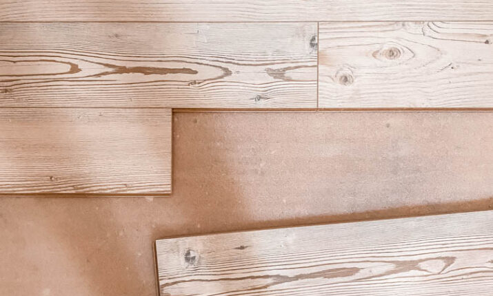 Installation Tutorial and Reveal of Gorgeous New Whitewashed Laminate Wood Flooring in the Cabin…